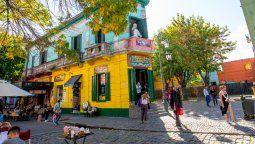 Caminito, en La Boca, el barrio más turístico de la Ciudad de Buenos Aires.