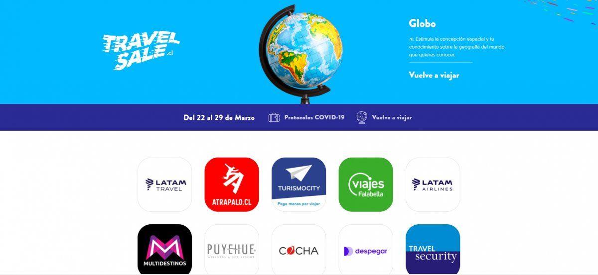 Travel Sale 2021 tiene lugar entre el 22 y 29 de marzo.