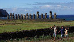Los clásicos moáis de Rapa Nui.
