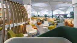 Lounge de SkyTeam en el nuevo Aeropuerto Internacional de Estambul.