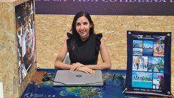 Dianne Infante, gerenta general de GTT, participó con la marca D&T Panamá en Fitur 2021.