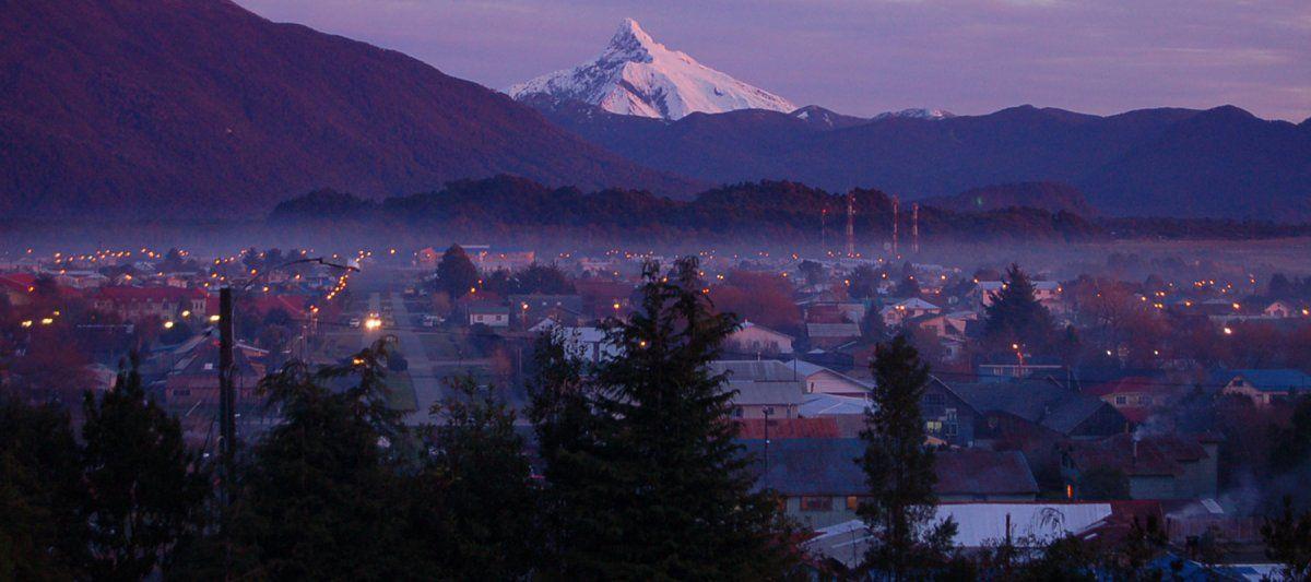 El Hotel Mi Casa ofrece a los huéspedes la más bonita vista sobre el pueblo de Chaitén