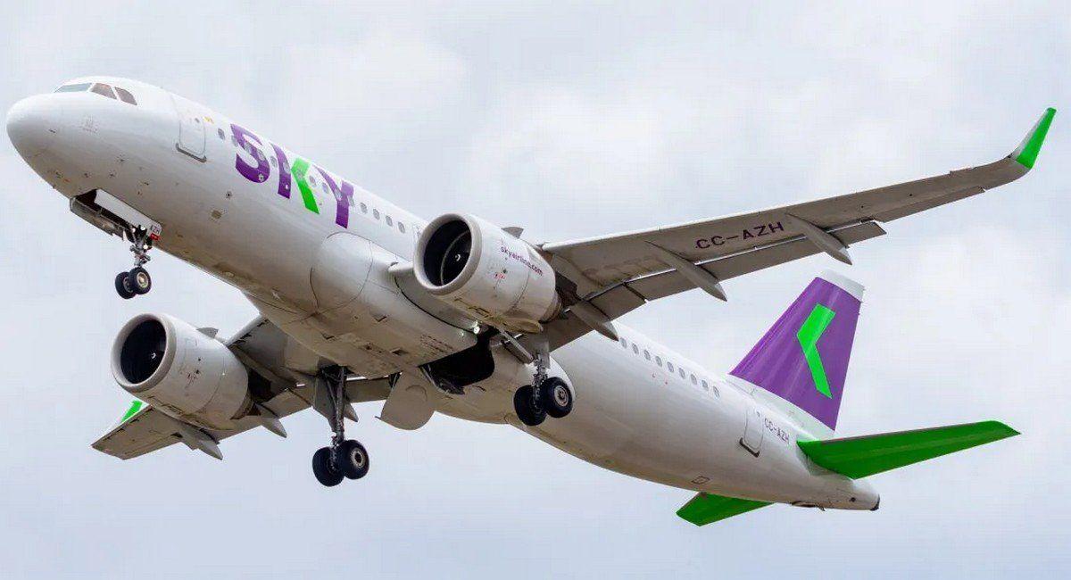 Un Airbus A320 de Sky: la chilena y Avianca utilizan la misma flota de fuselaje angosto.
