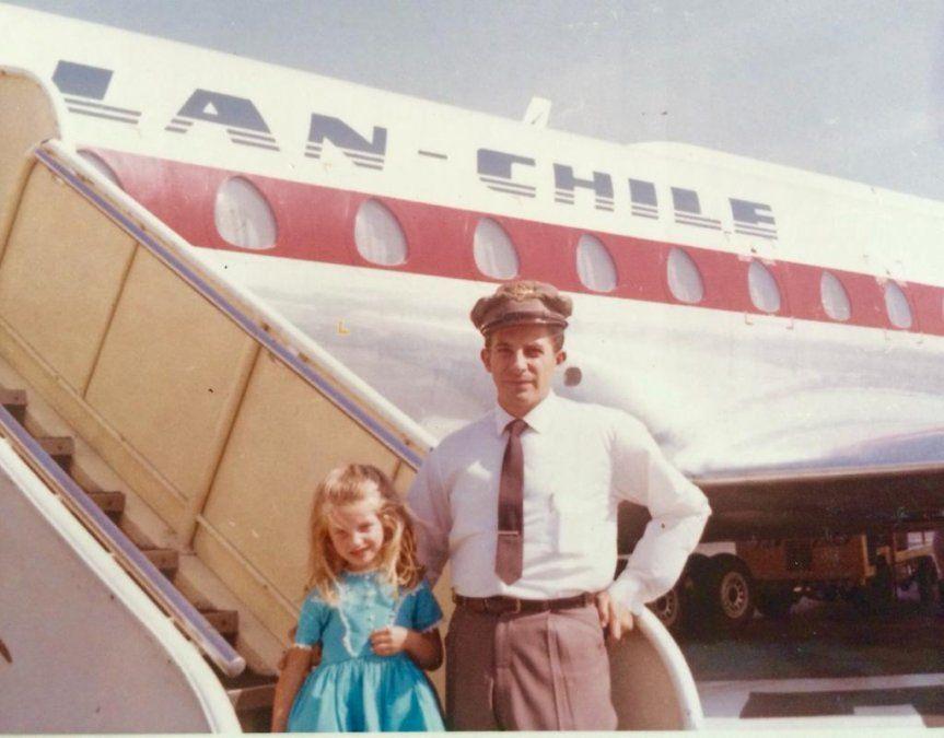 Jackie Hasard junto a su padre.