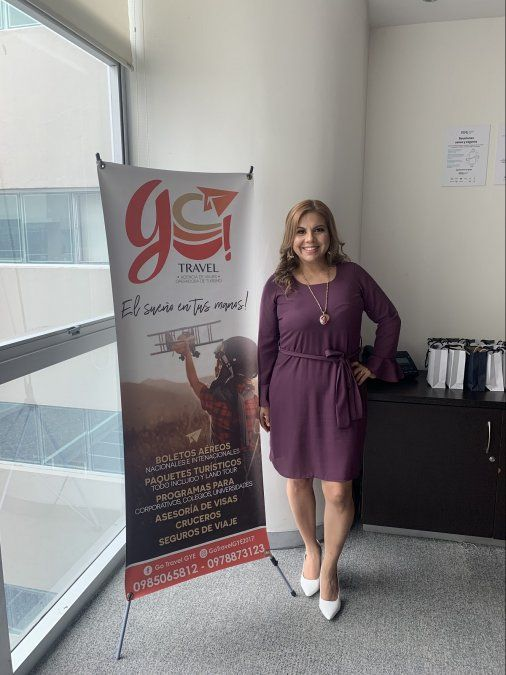 Johanna Rosales, gerenta general de Go Travel.