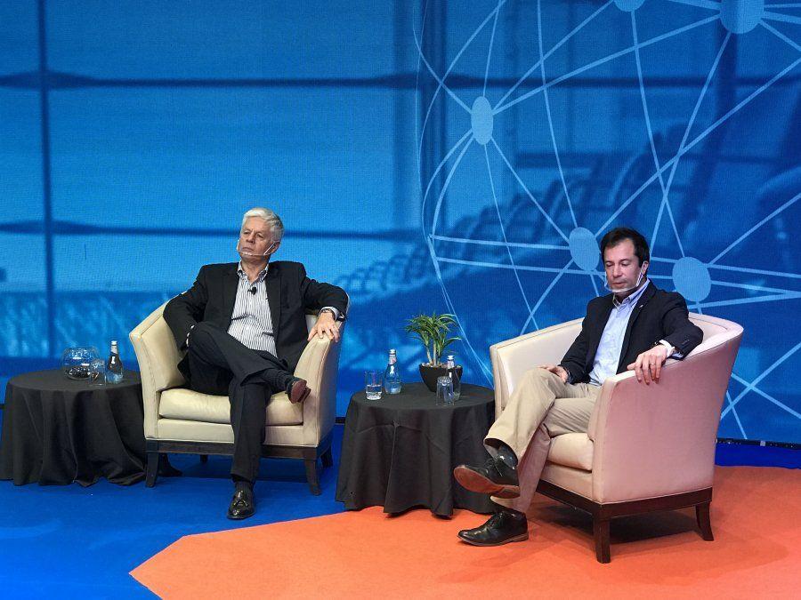 Guillermo Correa, gerente general de Travel Security; y el ministro de Economía, Fomento y Turismo, Lucas Palacios, inauguraron BTE 2020.