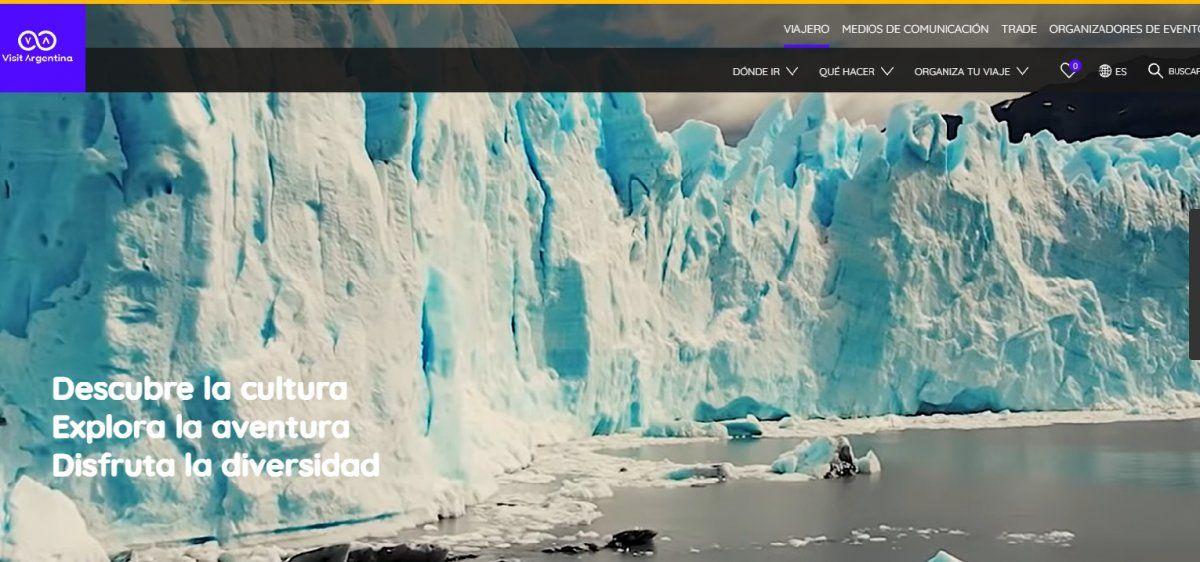 El nuevo sitio web de Argentina ofrece información sobre todos sus destinos