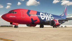Off We Go, una debutante en el transporte aéreo.