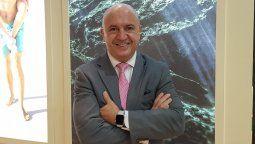 Javier Aranda, director ejecutivo de la Asociación de Hoteles de Cancún, Puerto Morelos e Isla Mujeres, en plena Fitur.