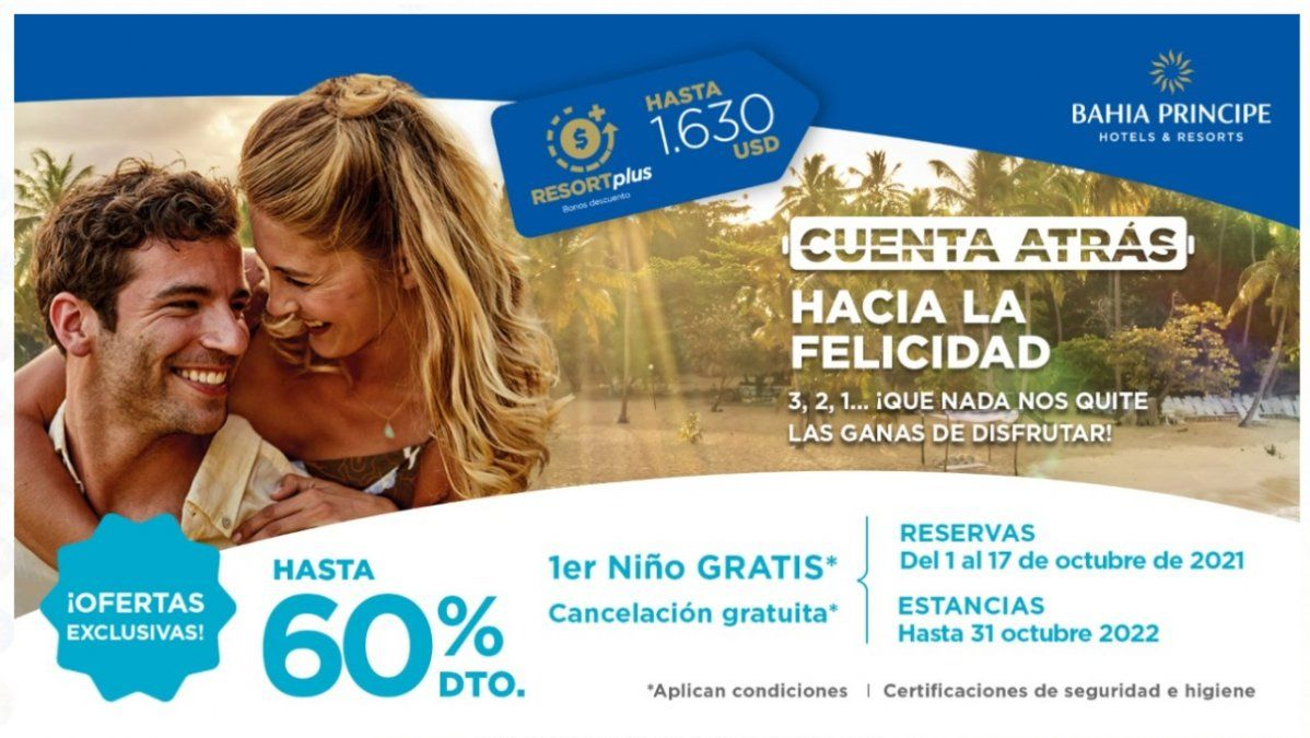 Bahia Principe lanzó una oferta exclusiva para sus clientes.