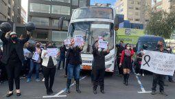 Marcha convocada por Optur y realizada el 12 de agosto