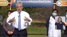 Piñera anunció el inicio del pago del Bono de Alivio para las Pymes.
