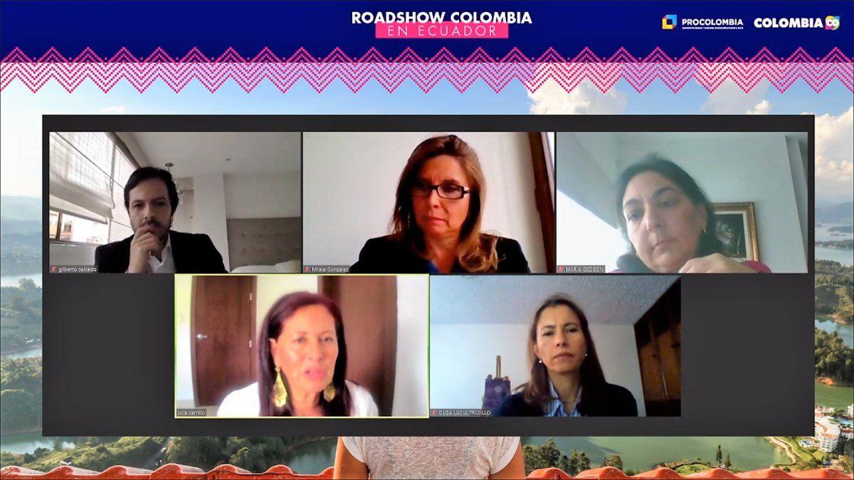 Panel Conectividad y Confianza en el marco del Roadshow de ProColombia en Ecuador.