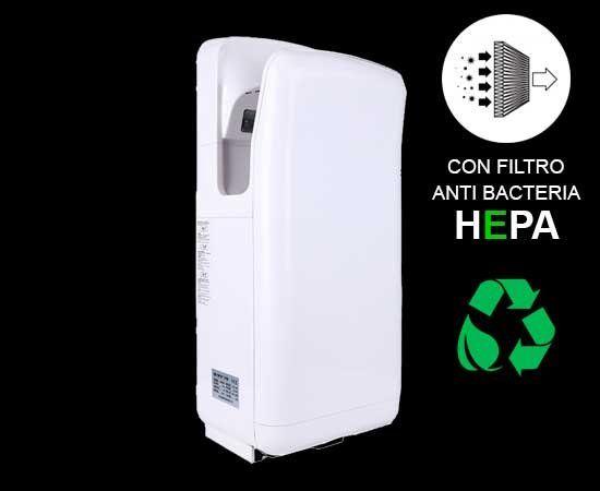 Las nuevas normas de higiene y limpieza que trajo la pandemia requieren secamanos con filtros HEPA.