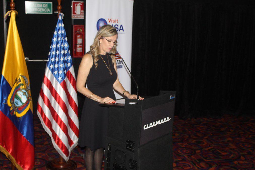 Alexandra Valencia, presidenta del Comité Visit USA Ecuador (Archivo)