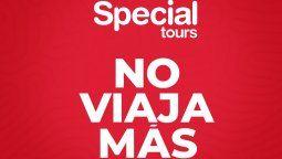 """El turoperador español Special Tours anunció que """"no viajará mas""""."""