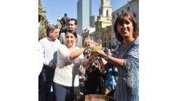 autoridades dieron el vamos a la temporada de vendimias en la region metropolitana