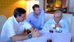 """Gilson Machado Neto, Carlos Brito y Juan José """"Pepe"""" Hidalgo, del grupo Globalia."""