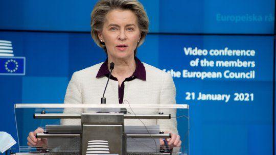 Ursula von der Leyen, presidenta de la Unión Europea.