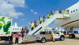Imagen de uno de los vuelos de United en el marco de la CRAF convocada por Estados Unidos.