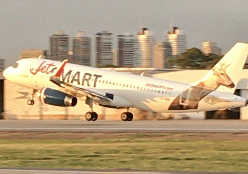 Los Airbus A320 constituyen la flota de JetSmart.