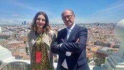 Esther Pacheco, Marketing Supervisor de Riu para Lationamérica, y Senén Fornos.