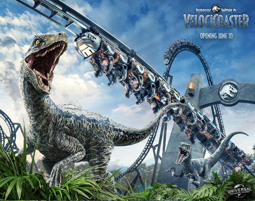 Jurassic World VelociCoaster abrirá el 10 de junio en UOR.