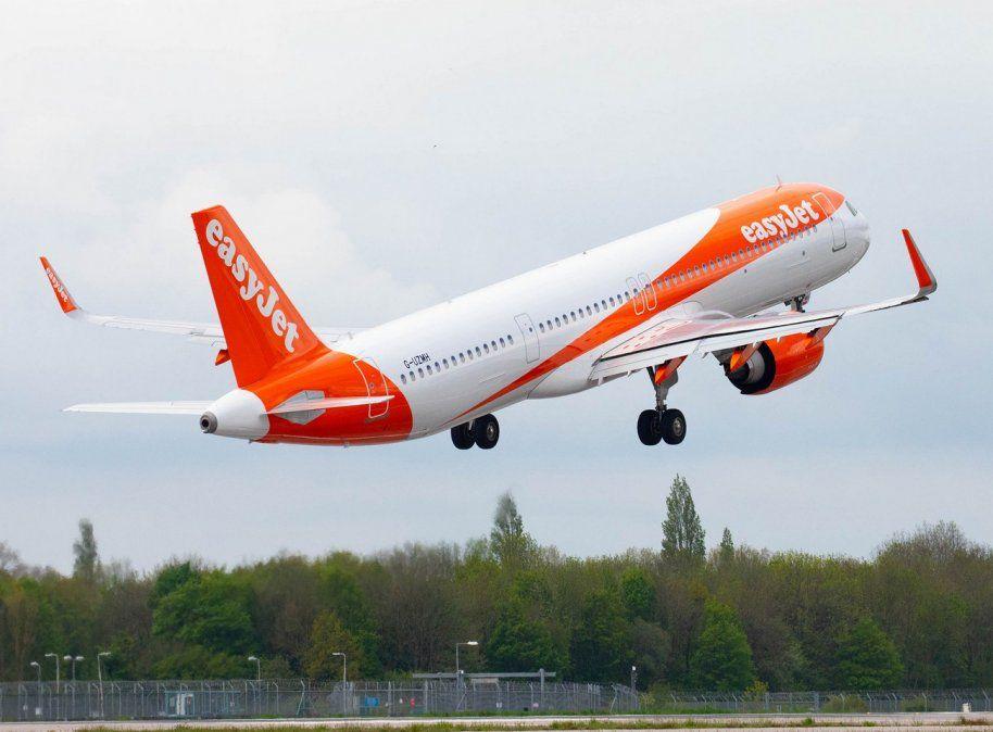 Uno de los Airbus A320 de Easyjet.