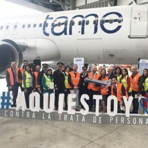 TAME. La aerolínea se une a la lucha contra la trata de personas
