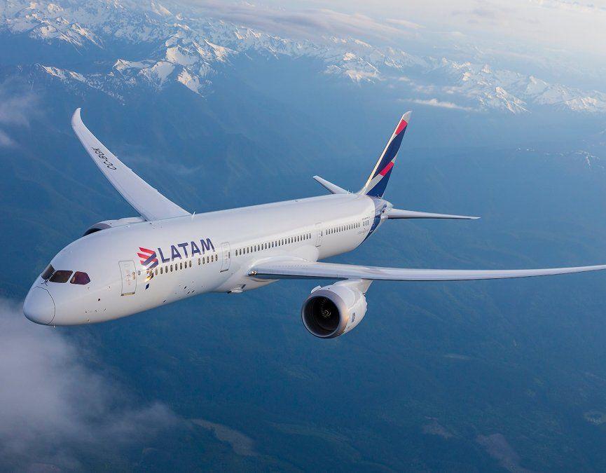 Boeing B-787 de Latam Airlines.