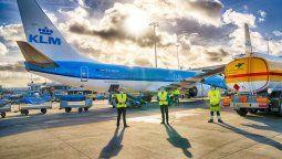 KLM brega por los vuelos sostenibles.
