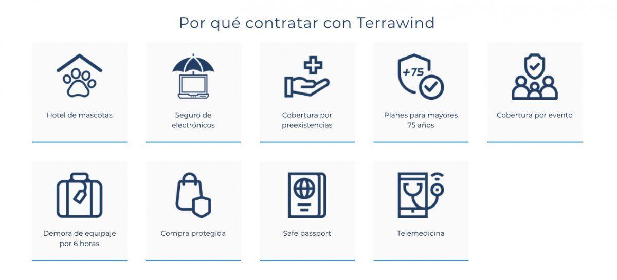Terrawind Global Protection ofrece una serie de productos de asistencia al viajero.
