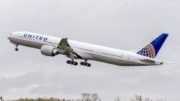 Uno de los Boeing 777 que opera United Airlines.