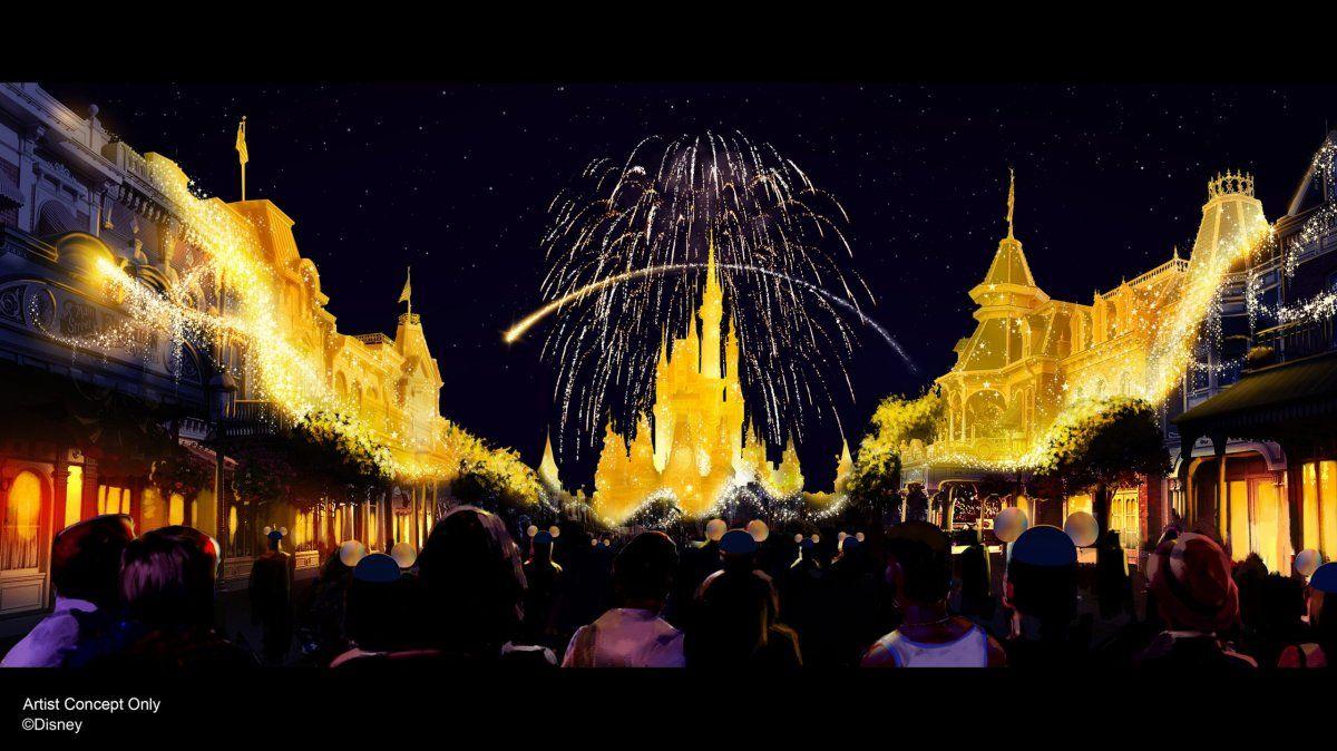 Disney Enchantment sorprenderá todas las noches a los visitantes frente al Castillo de Cenicienta.