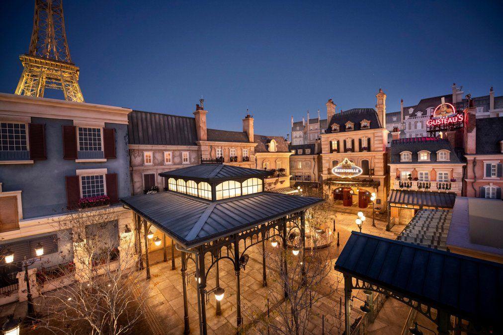 El renovado pabellón de Francia en Epcot.