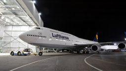 El último vuelo de repatriación de LH tuvo lugar con un B-747-430.