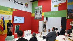 El presidente de España, Pedro Sánchez, en la presentación del Certificado Verde Digital durante FITUR.