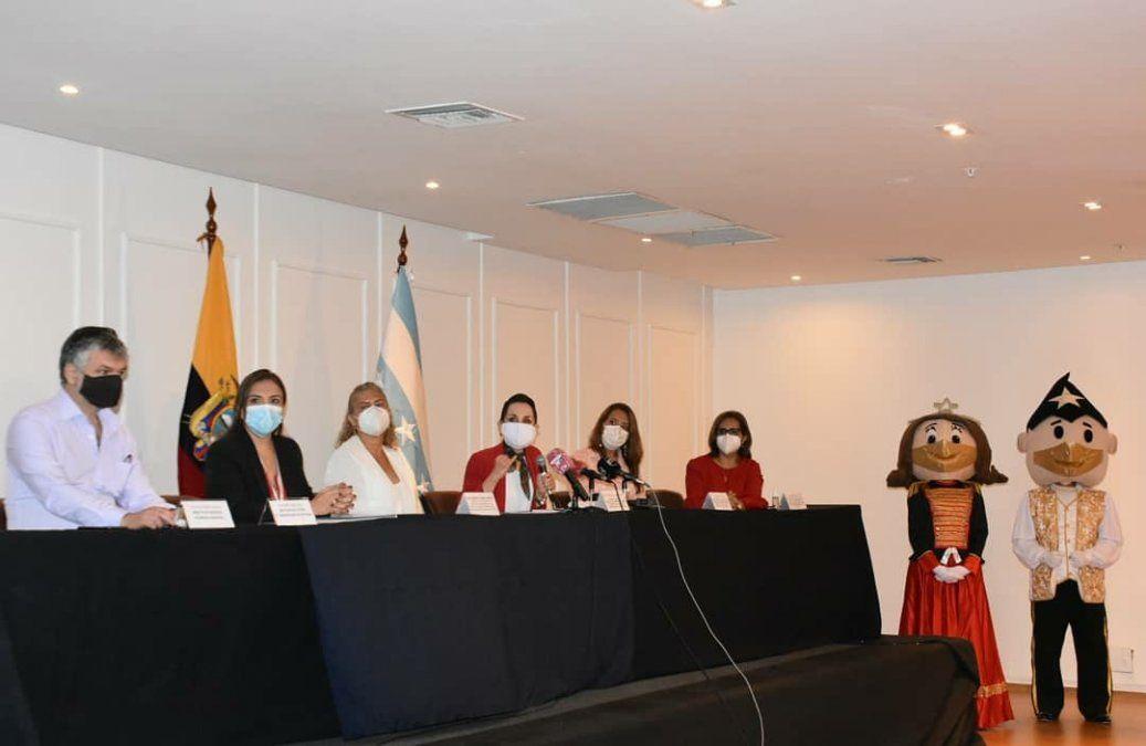 Autoridades de la Municipalidad de Guayaquil presentaron este 30 de noviembre la agenda de eventos para Navidad.