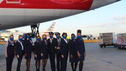 american airlines conmemora el 8m con tripulacion femenina