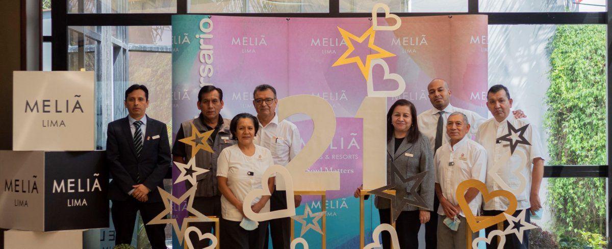 El equipo del Meliá Lima.