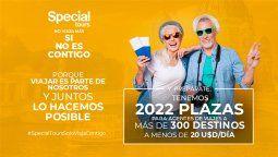 Special Tours anunció la oferta de 2022 plazas en más de 300 destinos a menos de US$ 20 por día, exclusivas para los agentes de viajes.