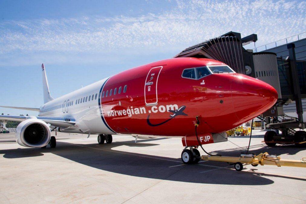 Un Boeing B-737/800 de Norwegian Air.