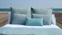 La colección de textiles Posidonia está elaborada a partir de fibras recicladas.