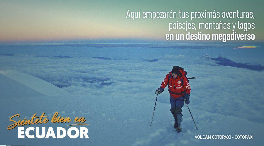 La Campaña Internacional de Promoción Turística se denomina Siéntete bien en Ecuador o Be well in Ecuador en inglés