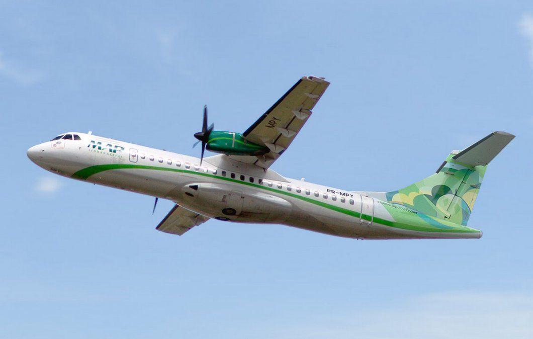 Uno de los ATR 72 que opera hoy MAP y que Gol Linhas Aéreas desprogramará.