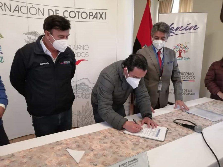 Acuerdo para la administración del Parque Nacional Cotopaxi