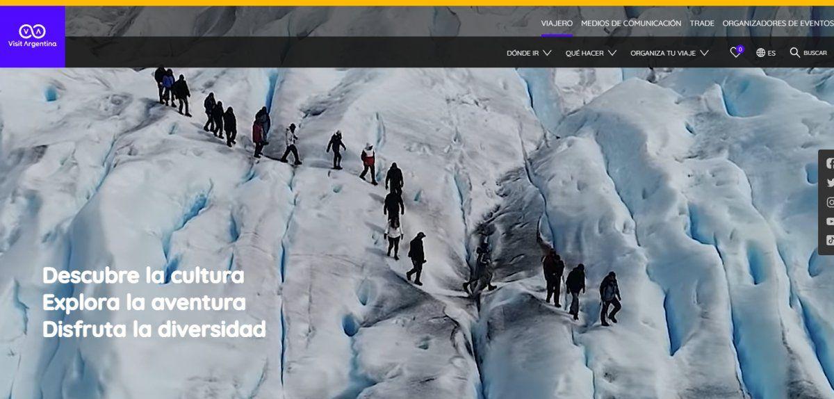 El sitio web de Argentina tiene sus versiones en español, inglés y portugués.