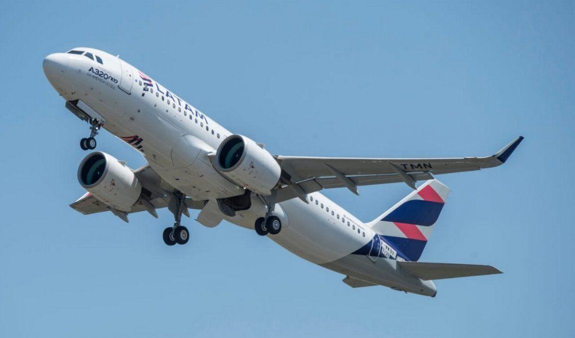 Uno de los Airbus A320NEO como los que encargó Latam Airlines Group.