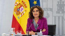 María Jesús Montero, portavoz del Gobierno Español, anunció el rescate de Air Europa.