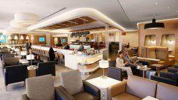 Un sector del Flagship Lounge de American Airlines en New York-JFK.